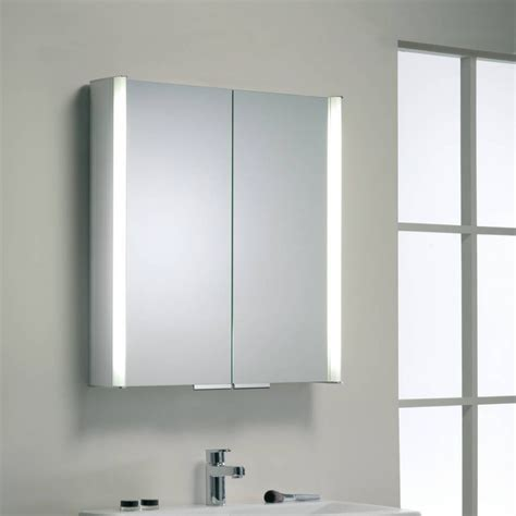 buy roper rhodes summit illuminated double bathroom cabinet with double sided mirror john lewis roper rhodes summit aluminium two door illuminated cabinet