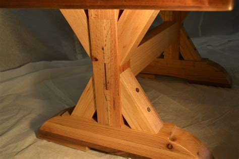 coffee table reclaimed oak w trestle leg design by