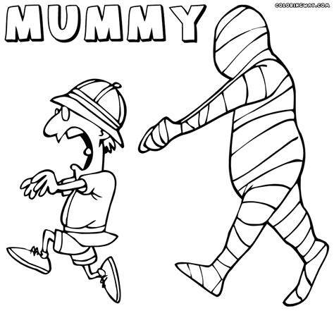 Mummy Coloring Pages by Vector Of A Walking Mummy Mummy Coloring Pages
