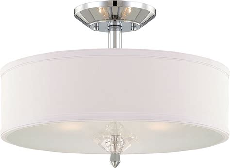 Designer Ceiling Light Fixtures Designers 84211 Ch Palatial Contemporary Chrome Flush Ceiling Light Fixture Dsf 84211 Ch