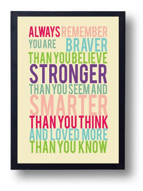 printable christopher robin quotes you are braver than you believe winnie the pooh quote