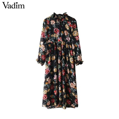 aliexpress vadim aliexpress com buy vadim vintage floral ruffled neck