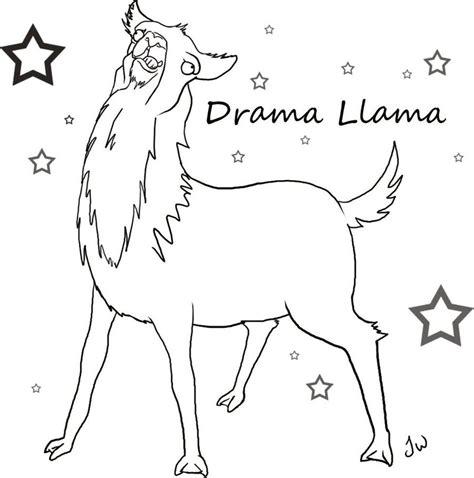 llama drama colouring for llama drama books drama llama template by aurigale on deviantart