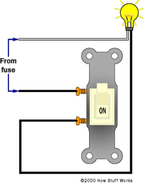 how a light switch works normal lights how three way switches work howstuffworks