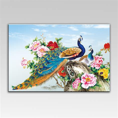 peacock wall art decor