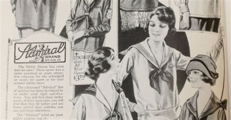 Middy Blouse Fashion 2 middy blouses shown in a 1922 sears catalog via raleigh