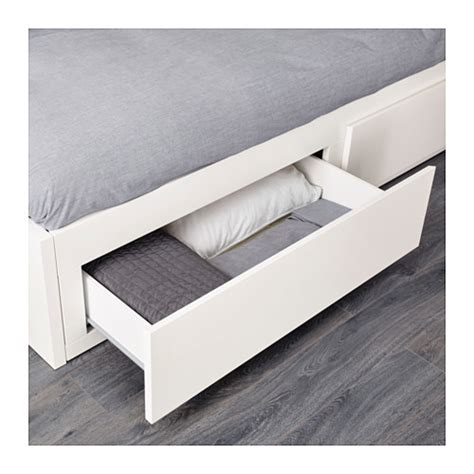 Dipan Ikea flekke day bed frame with 2 drawers white 80x200 cm ikea