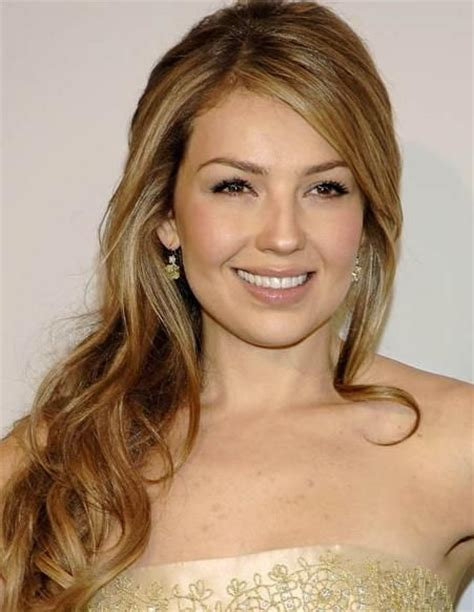 Thalia Hairstyle by Thalia S Formal Half Updo Is In The Eye Of The