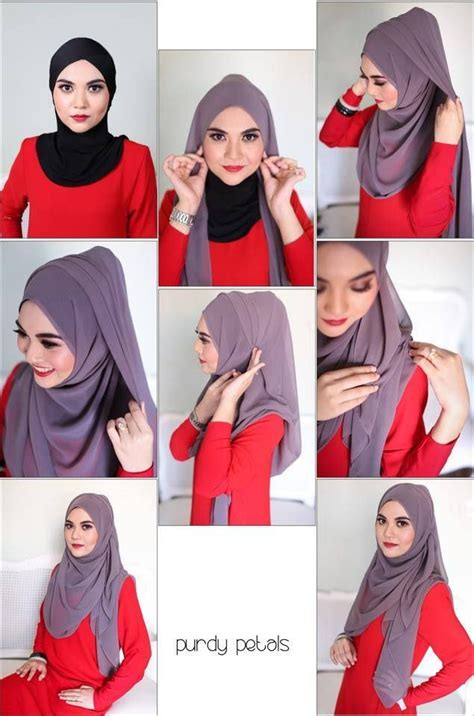 tutorial jilbab pesta pashmina 148 best images about hijab tutorial on pinterest simple