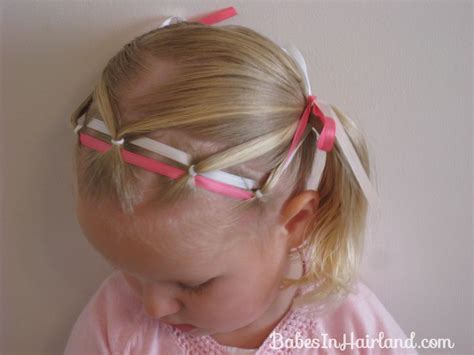 cute hairstyles ribbon ponies ribbon headband babes in hairland