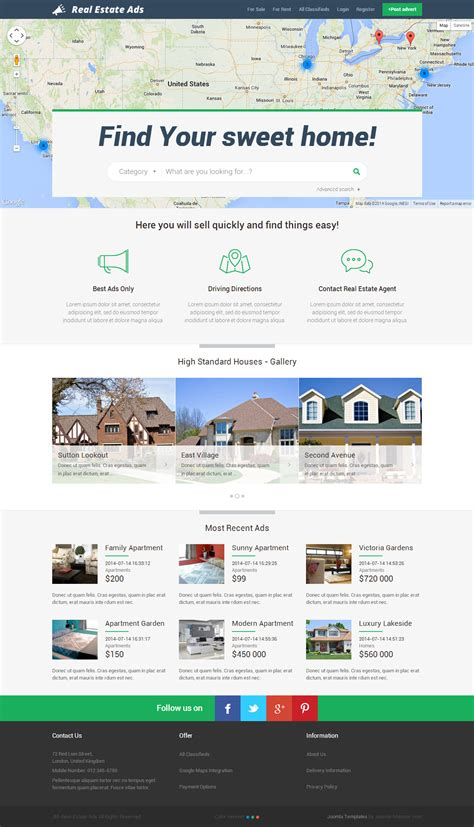 joomla classifieds template best responsive joomla classified ads templates 2014
