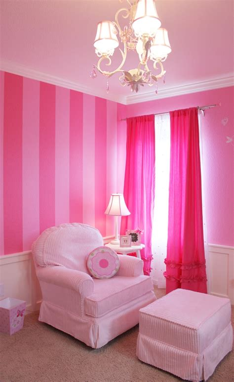 pink and white dressing room i want s secret striped walls in my dressing room
