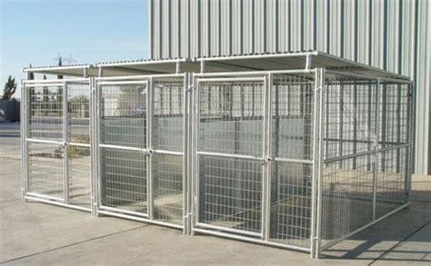 heavy duty kennels heavy duty outside kennel 3 run 5 x10 x6 w fight guard