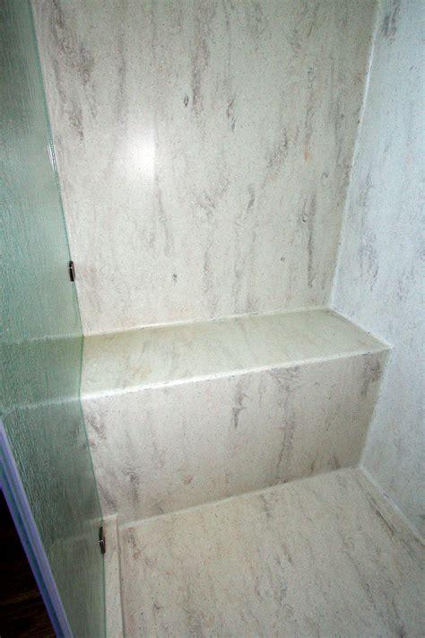 corian seamless shower bench pan bathroom   corian shower walls bathroom