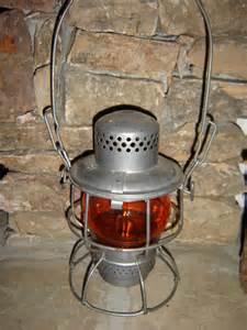 l n railroad vintage railroad lantern with orange glass