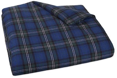 plaid flannel comforter pinzon 160 gram plaid velvet flannel duvet cover king