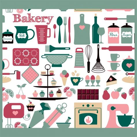 download pattern st tool seamless bakery tools pattern vector free download