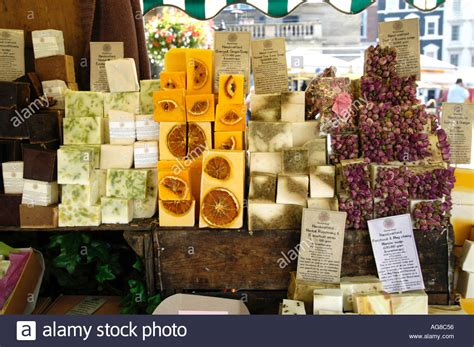 Handcrafted Marketplace - handmade soap stall at covent garden market