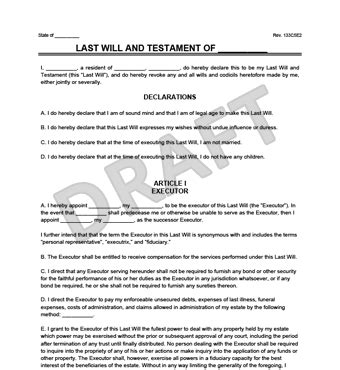Sle Last Will And Testament Form Legal Templates Nc Last Will And Testament Template