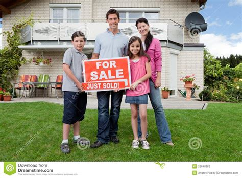 buying house from family happy family buying new house stock photography image
