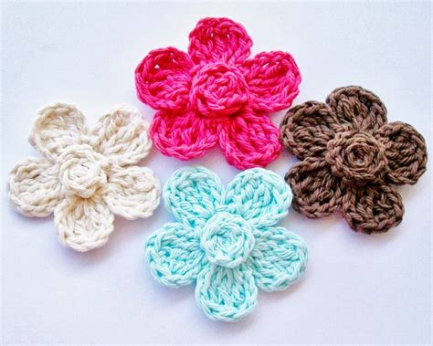 free patterns and instruction on making flower hair clips free crochet motif patterns and instructions