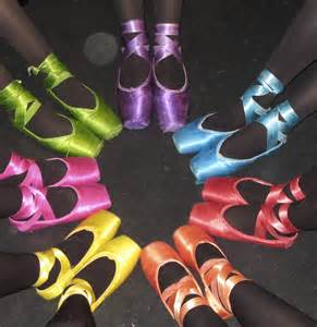 colored pointe shoes westport s academy of 187 teachers