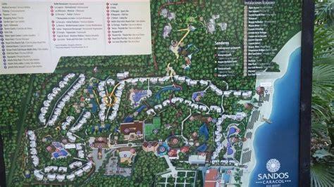 eco resort map map picture of sandos caracol eco resort playa
