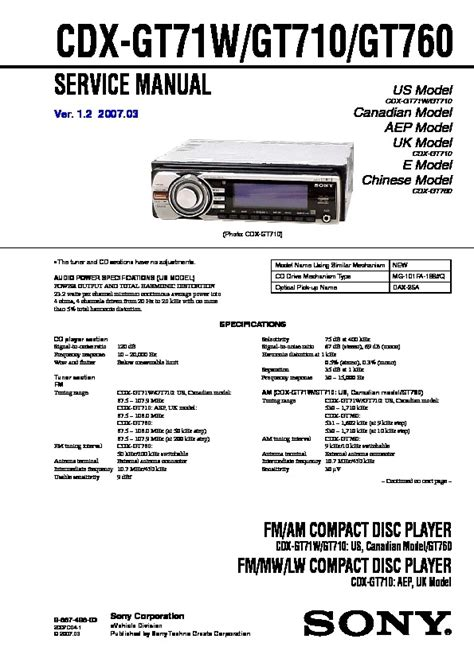 sony cdx gt wiring diagram wiring diagram  schematic diagram images