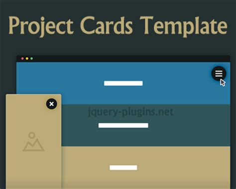 tutorial jquery template project cards template with css and jquery jquery plugins