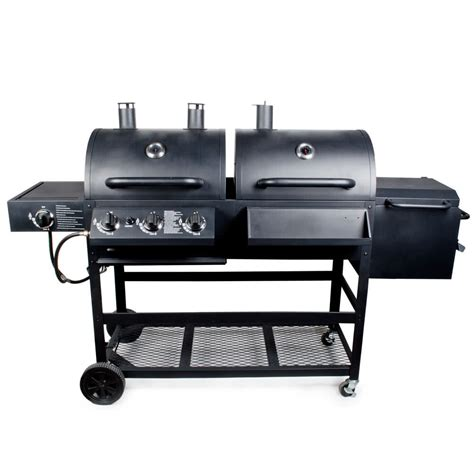 Backyard Grill Charcoal Backyard Pro Portable Outdoor Gas And Charcoal Grill Smoker Assembled