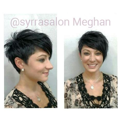 edgy hairstyles for 30 and over asymmetrical undercut long pixie hair pinterest long