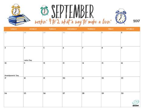 printable calendar october 2017 cute september 2017 calendar cute printable calendar monthly
