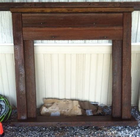 barnwood faux fireplace faux mantel from wood faux