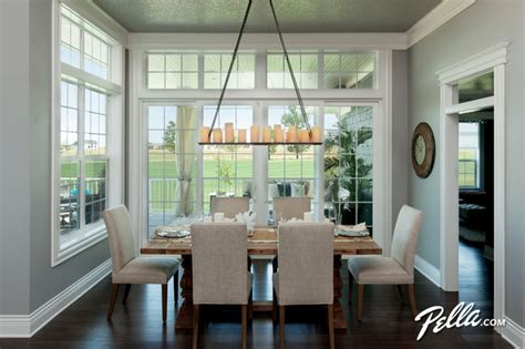 Dining Room With Patio Doors Enjoy Encompass 174 Single Hung Windows Pella 174 350 Series
