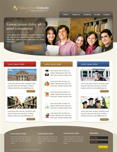 html templates for education website educational website design templates www pixshark com