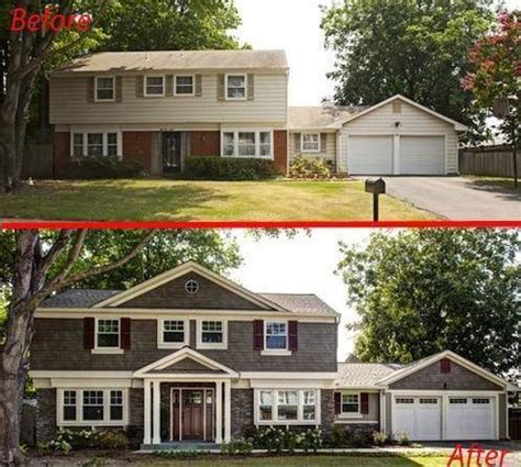 before and after home makeover 20 home exterior makeover before and after ideas