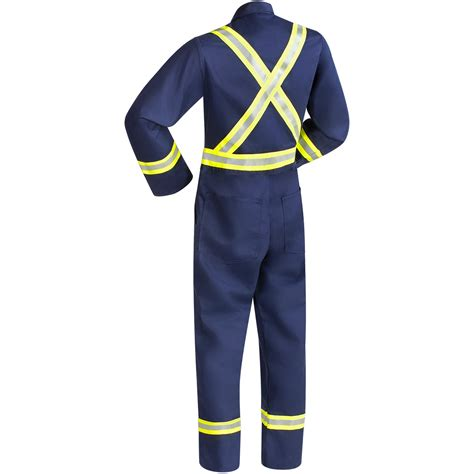 Wearpack 100 Cotton 100 Coverall Cotton Orange 9 oz fr cotton coveralls navy blue with fr silver yellow reflective stripes steiner industries