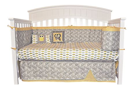 Owl Crib Bedding Unisex View Larger