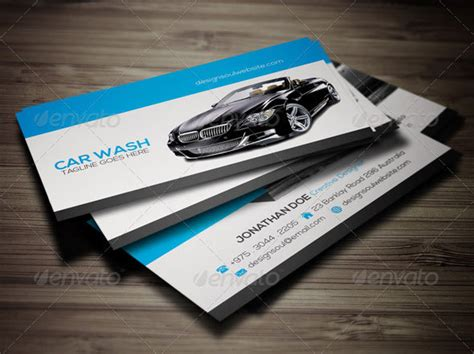 car wash business card template psd 20 best automotive business card design templates pixel