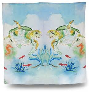 turtle shower curtains bath accessory sets betsy drake sea turtle print shower curtain 70 x 72 in
