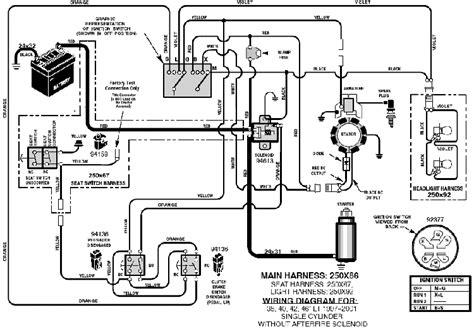 mtd mower solenoid wiring diagram mtd free engine
