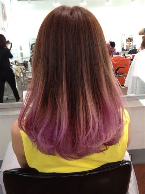 hairstyles with dyed ends i want a really subtle color on the ends of my hair like