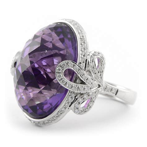 Amesthy Cut Checkerboard amethyst cocktail ring checkerboard cut wixon jewelers