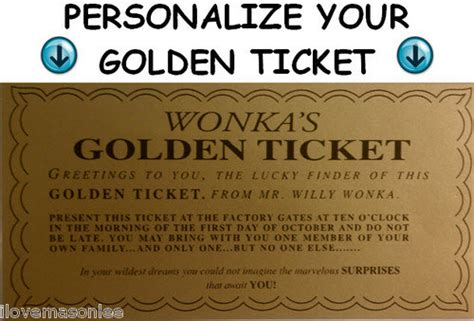 golden ticket template editable flat fee for personalizing your willy wonka golden ticket