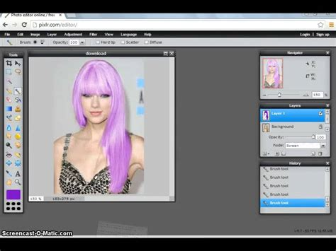 change hair color online photo editor how to change hair color easily on pixlr doovi