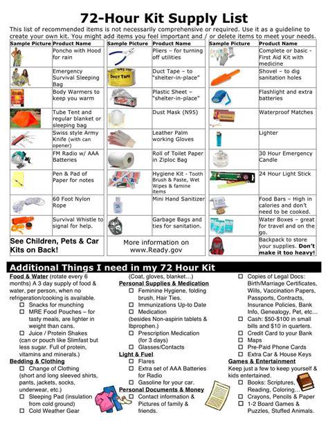 earthquake list emergency survival kit list google search earthquake
