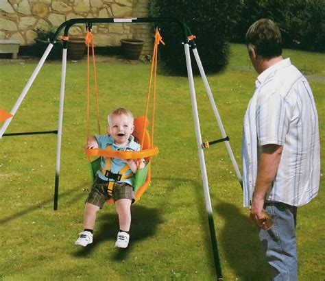 outdoor baby swing easy storage folding portable baby toddler child indoor