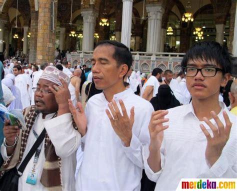 profil anaknya jokowi foto perjalanan religius jokowi ke tanah suci bersama