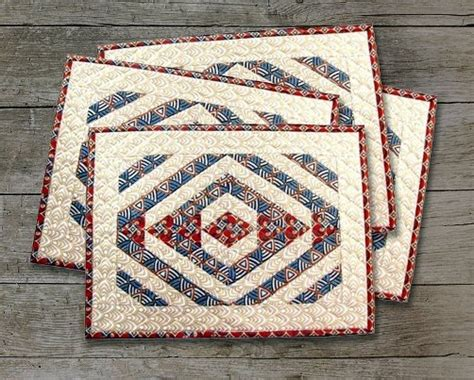 free printable quilted placemat patterns cut stitch piece quilt designs tee pee trails quilted