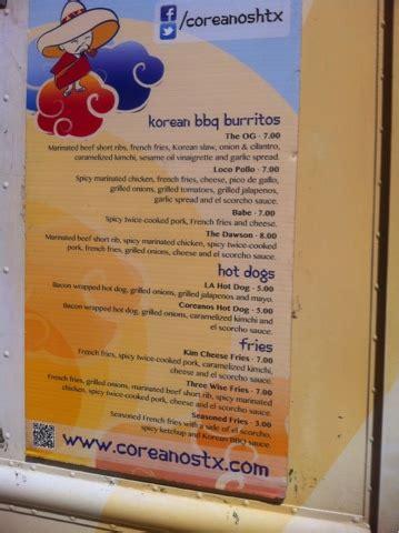 Houston Food Truck Reviews: Coreanos - The OG Coreanos Food Truck
